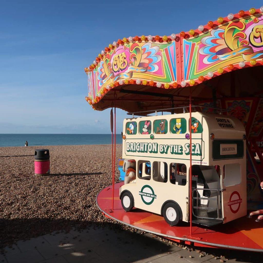 manège sur la plage de Brighton