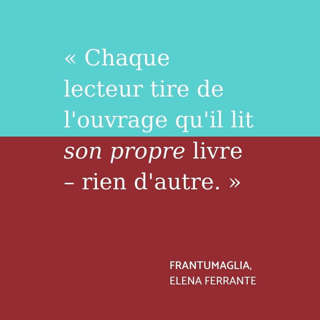 Citation du livre Frantumaglia d'Elena Ferrante