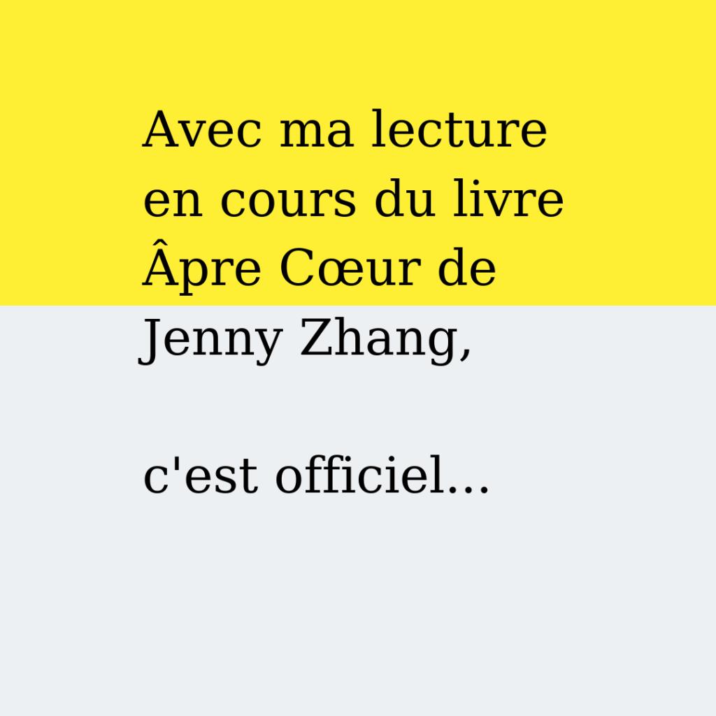 Littérature étrangère Âpre cœur de Jenny Zhang